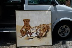 ANTIQUE INDIAN POTTERY, OIL PAINTING in Fort Rucker, Alabama