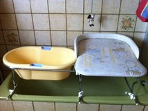 changing table and baby bath tub combo in Spangdahlem, Germany